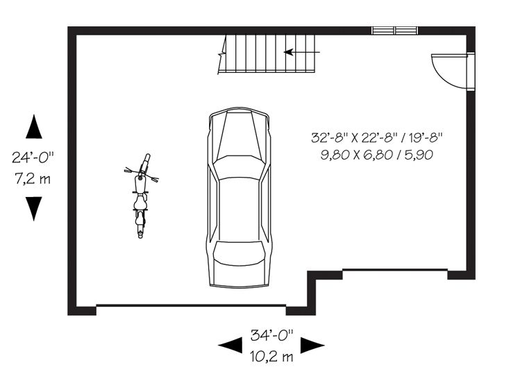 3 Car Garage Plans Three Car Garage Loft Plan 028g 0027 At Www