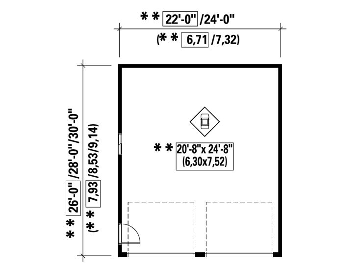 2 Car Garage Plans Two Car Garage Plan Available In 6