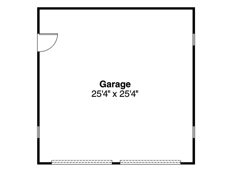 Detached 2 Car Garage Plan, 051G-0003