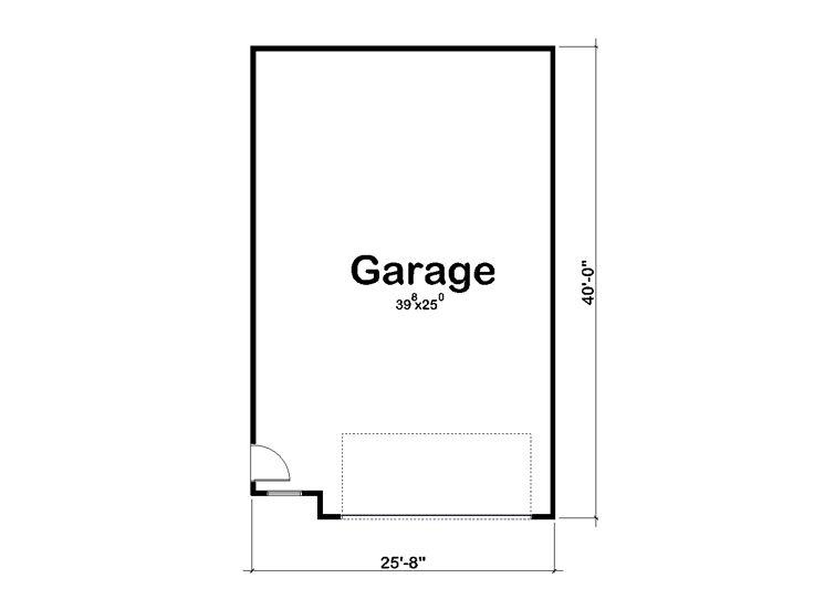 Tandem Garage Plans Tandem Garage Plan With Parking For Four Cars Design 050g 0054 At