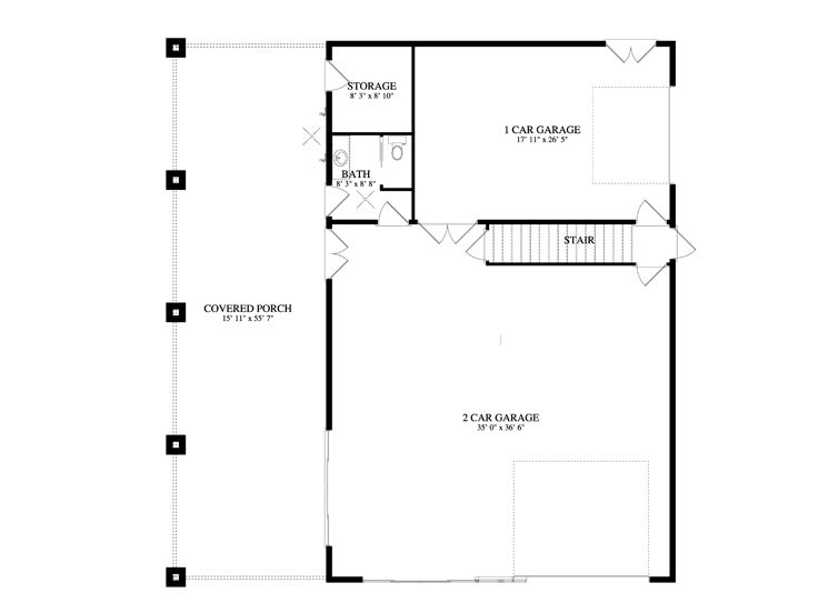 1st Floor Plan, 065G-0007