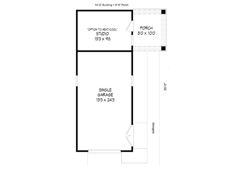 4 Car Tandem Garage House Plans