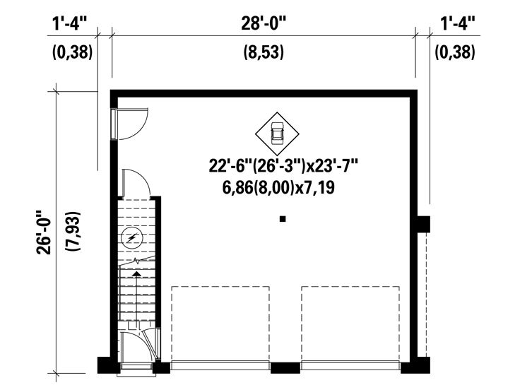 1st Floor Plan, 072G-0034