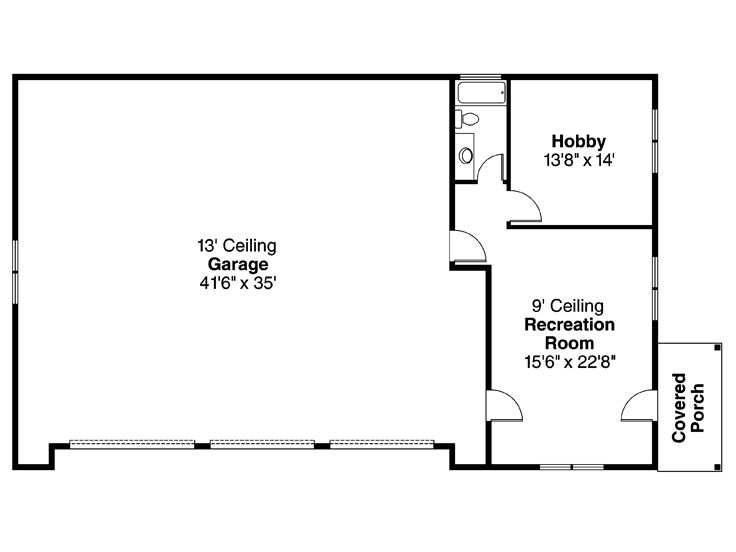 Three Car Garage Plans 3 Car Garage Plan With Hobby Room