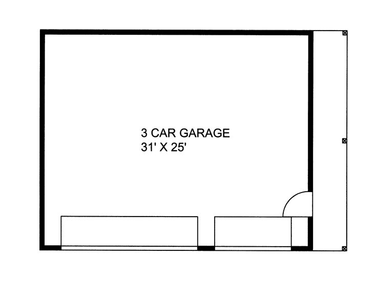 Plan 012g 0035 garage plans and garage blue prints from for 3 stall garage dimensions