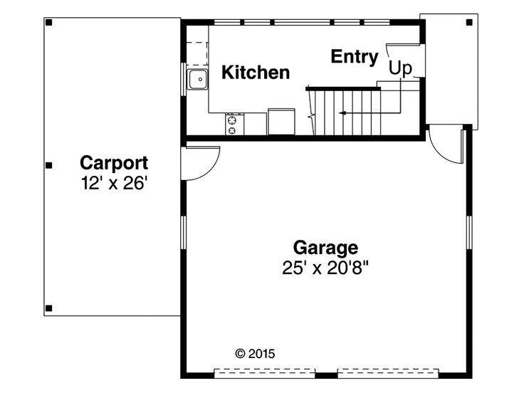 1st Floor Plan, 051G-0107