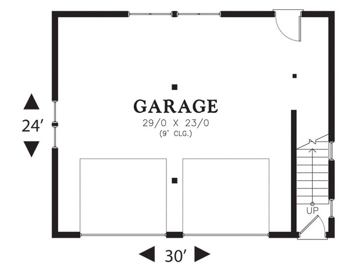 garage door floor plan symbol