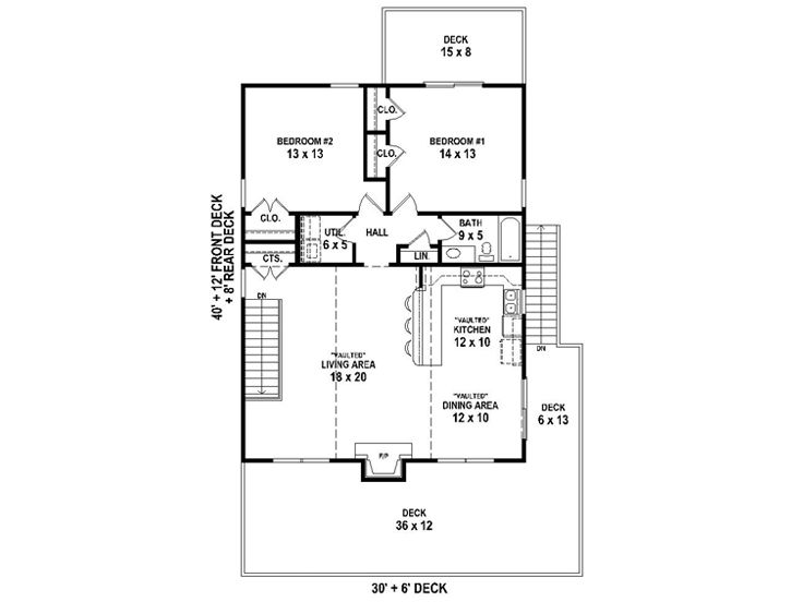 2nd Floor Plan, 006G-0169