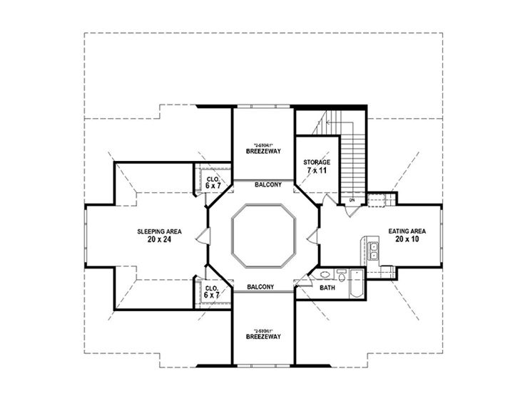 Horse barn plans horse barn outbuilding plan 006b 0003 for Pole barn with apartment floor plans