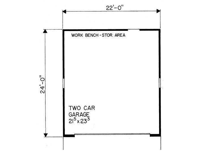 Simple Two Car Garage 92048vs: Simple 2-Car Garage Plan With Gable