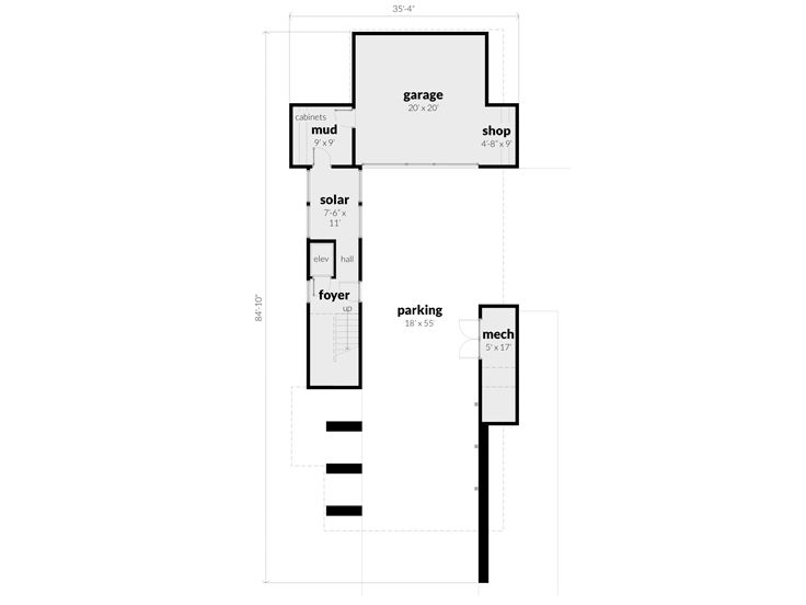 1st Floor Plan, 052G-0018