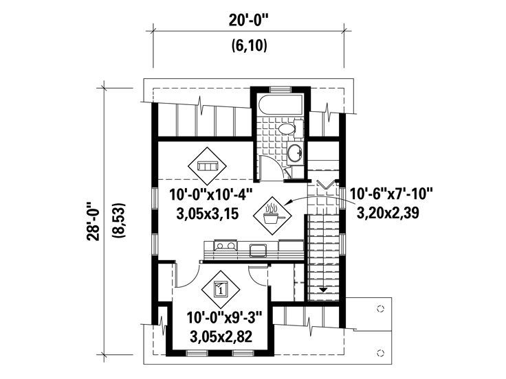 Garage Apartment Plans 1 Car Garage Apartment Plan With