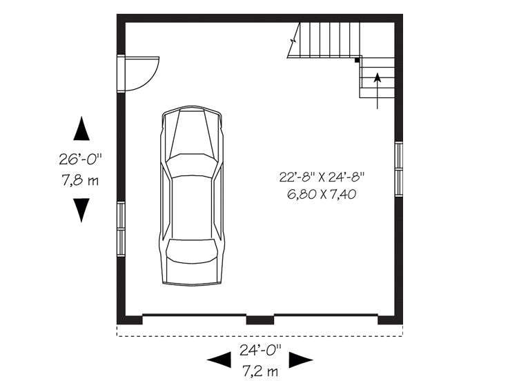 Car Garage Floor Plan: Detached 2-Car Garage Loft Plan