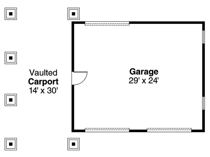 Garage plans with carport two car plan