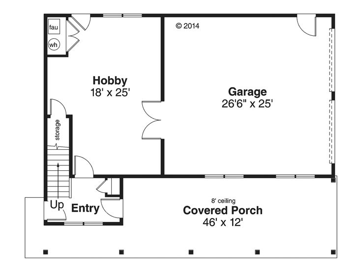 1st Floor Plan, 051G-0096
