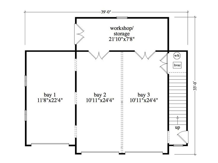 3 bay garage floor plans for 6 car garage house plans