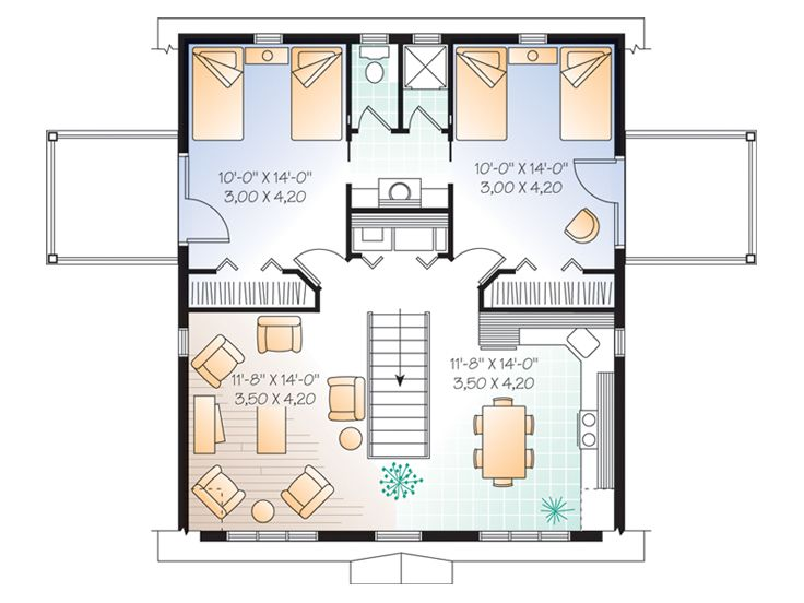 Garage Apartment Plans | 2-Car Carriage House Plan with ...