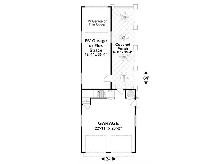 1st Floor Plan, 007G-0021