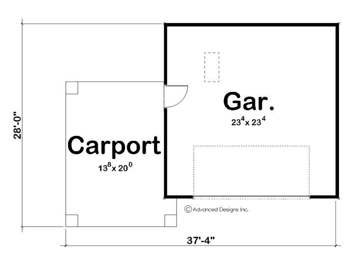 Garage plans with carport car plan