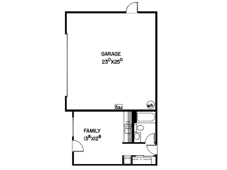 Garage Plans With Flex Space 2 Car Garage Plan With