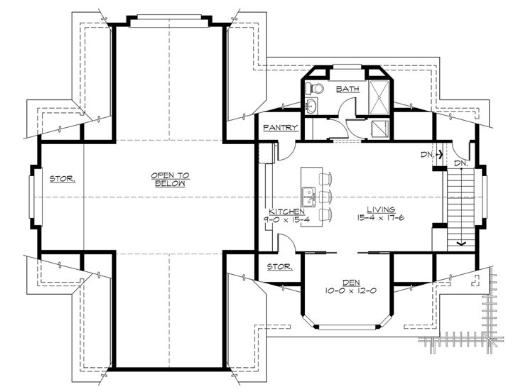 Rv garage plans rv garage plan with second floor for Rv garage floor plans
