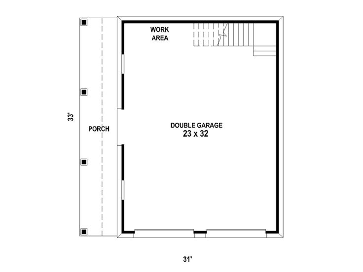 Garage Loft Plans Two Car Garage Loft Plan With Country