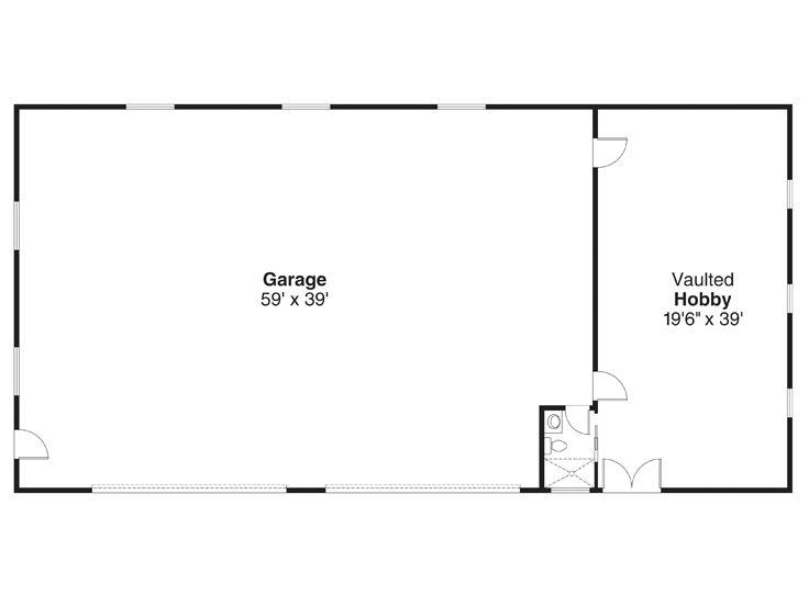 8 car garage plans 8 car garage plan with 4 tandem bays for Garage shop floor plans