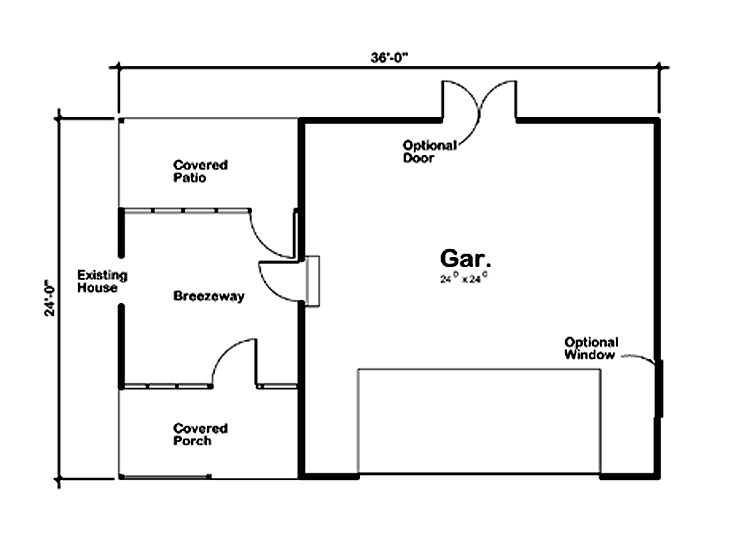Plan 047g 0013 garage plans and garage blue prints from for Double car garage dimensions