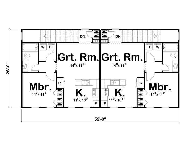 Unique garage plans unique double garage apartment plan for Unique garage apartment plans