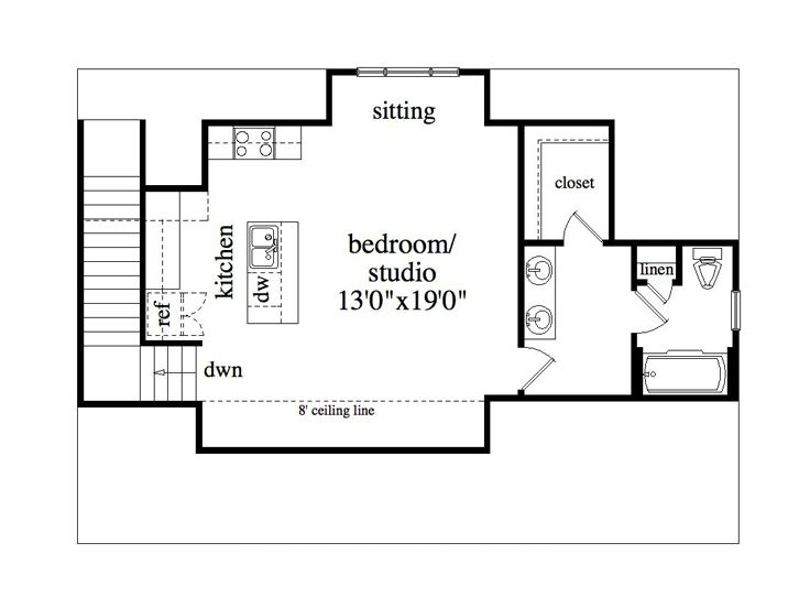 Garage apartment plans 3 car garage studio apartment for Garage studio apartment plans