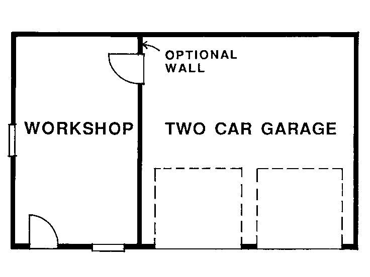 Garage workshop plans two car garage plan with workshop for Two car garage with workshop plans