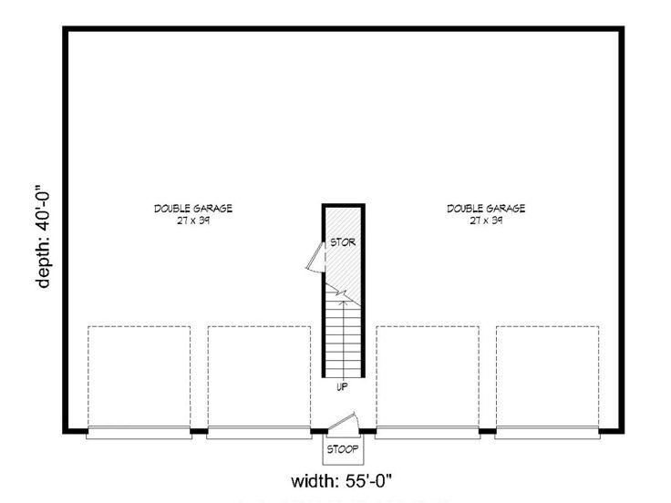 Tandem Garage Plans Tandem Garage Plan With Loft 062g
