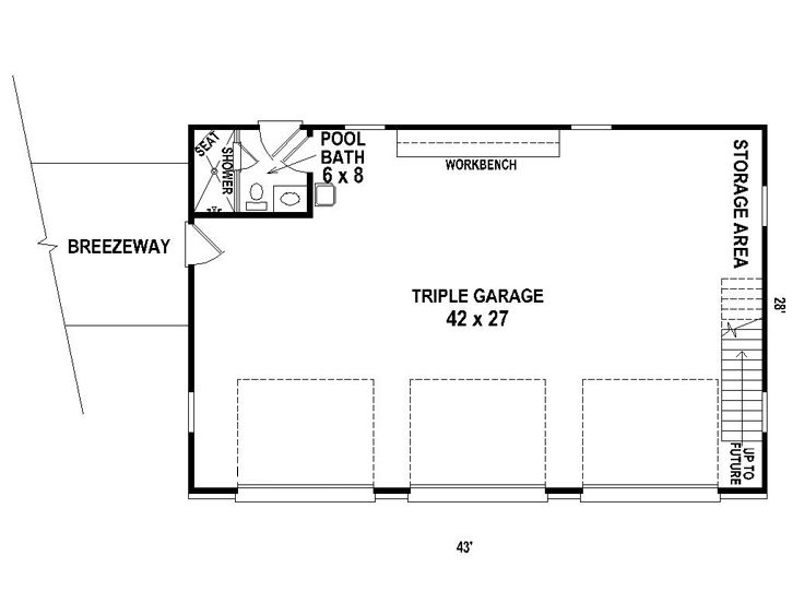 Auto Repair Garage Floor Plans: Detached 3-car Garage Plan Features Country Styling, A 10