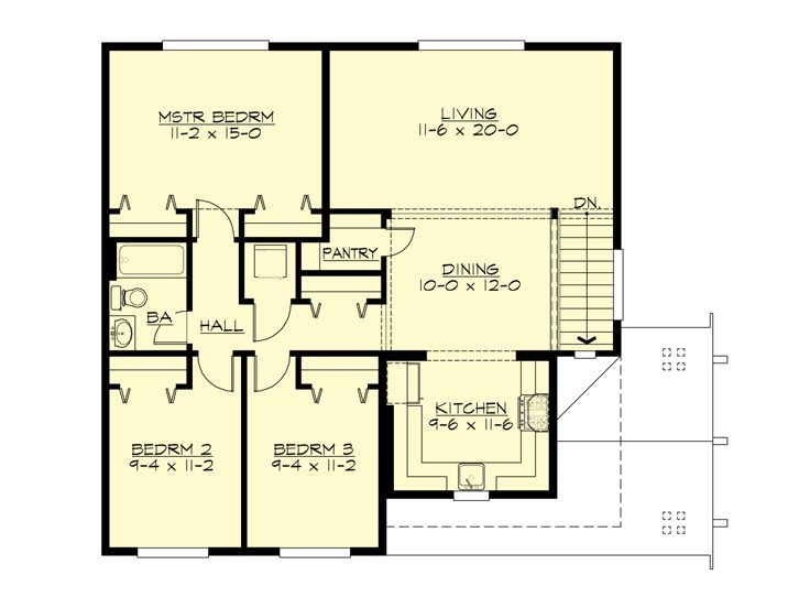 2nd Floor Plan, 035G-0023