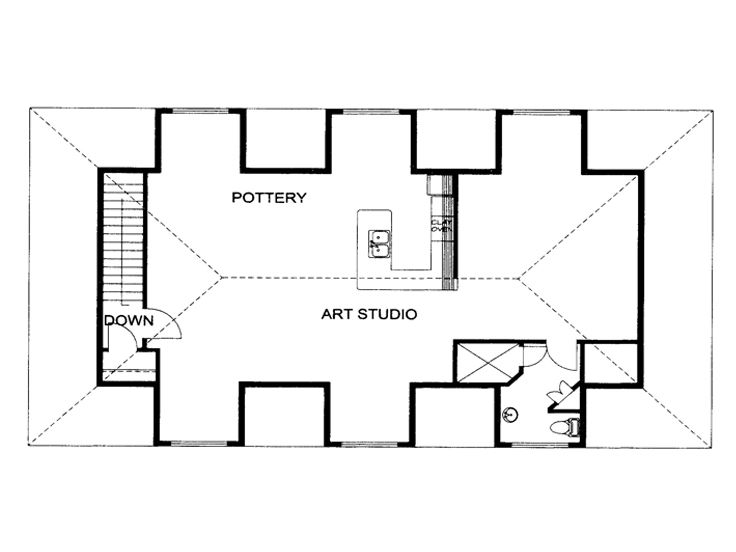 2nd Floor Plan, 012G-0129