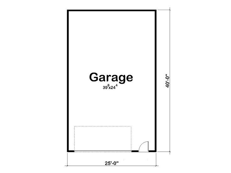 Tandem Garage Plans – 1000 Sq Ft Garage Plans