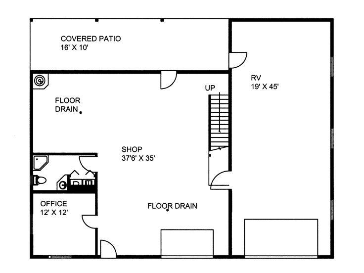 Plan 012g 0036 garage plans and garage blue prints from the garage 1st floor plan malvernweather Images