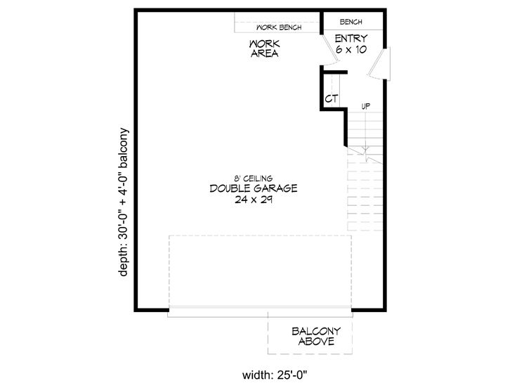 1st Floor Plan, 062G-0116