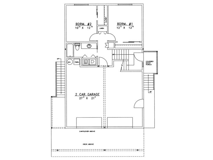 Carriage House Plans 2 Car Garage Apartment Plan 012g