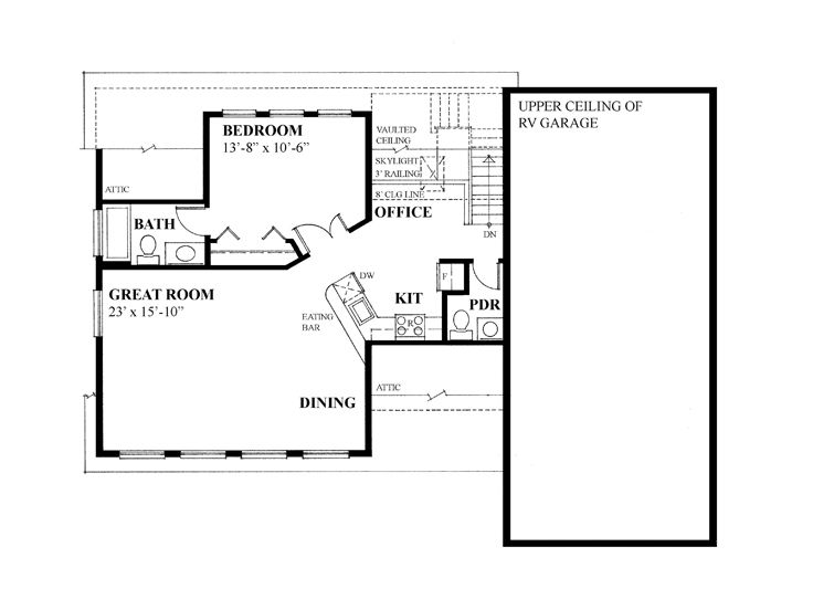 Garage Apartment Plans | Garage Apartment Plan with 3 Car Bays and ...