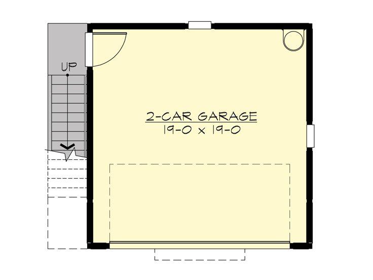 Garage apartment plans 2 car garage with studio for Garage studio plans