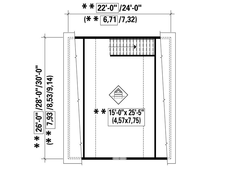 2nd Floor Plan, 072G-0015