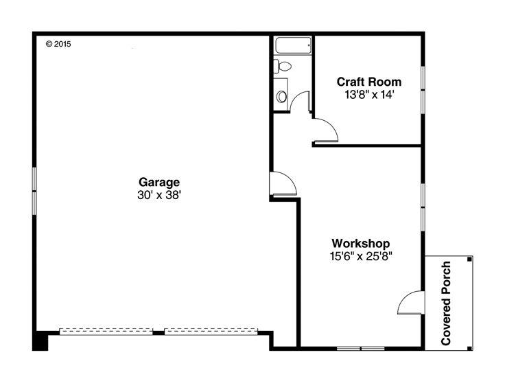 Tandem Garage Plans 4 Car Tandem Garage Plan With