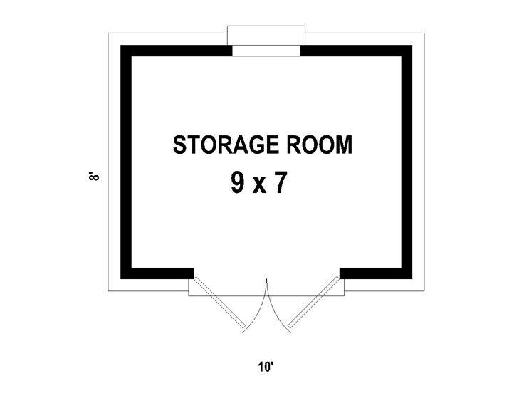 Shed plans backyard storage shed plan 10 x8 design for Storage room plan