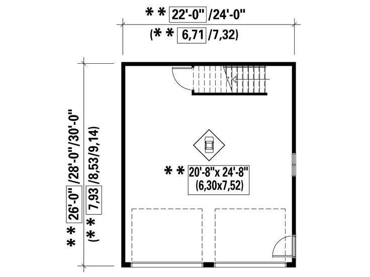 1st Floor Plan, 072G-0015