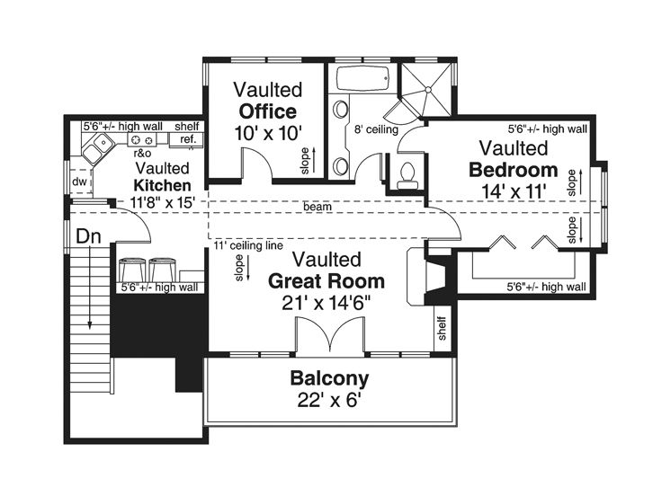 2nd Floor Plan, 051G-0069