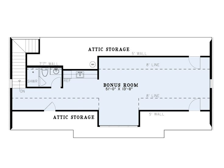 2nd Floor Plan, 025G-0012