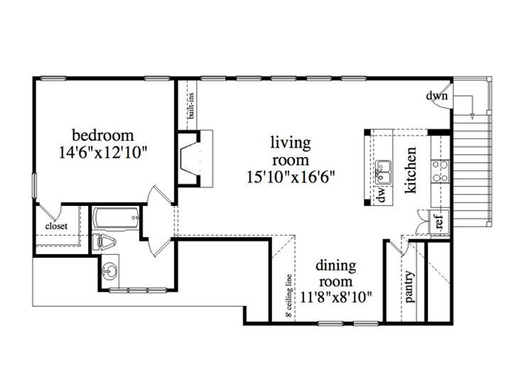 Garage apartment plans 4 car garage apartment design for Small garage apartment plans