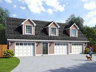 3-Car Garage with Loft, 047G-0038