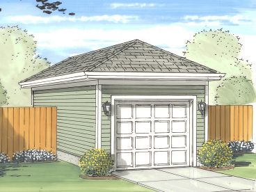 1-Car Garage Plan, 050G-0011